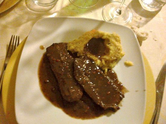 Osteria Alba Chiara: Polenta con brasato