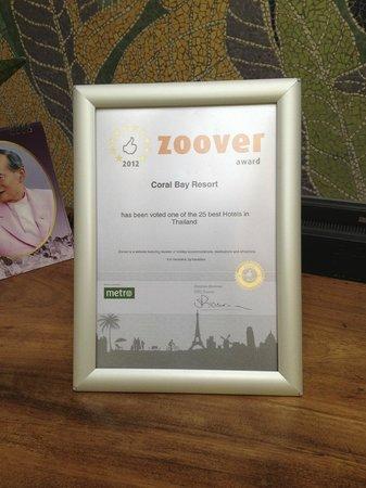 Coral Bay Resort : Auszeichnung 2012