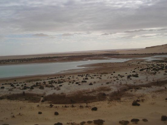 Al-Fayoum Oasis : View from hill at the end of the lower lake