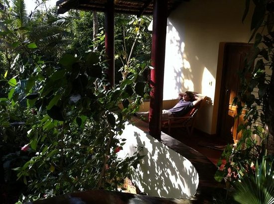 Claus Garden: Infront of room