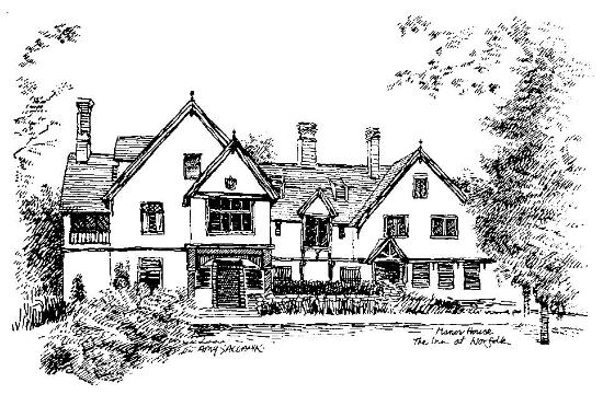 Line Drawing Of The Manor House