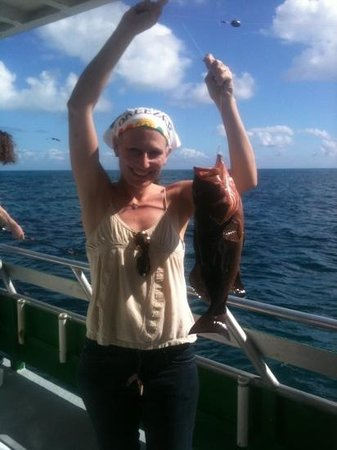 "Marathon lady party boat fishing: 19"" grouper. caught 12/15/2012 aboard the Marathon Lady morning trip."