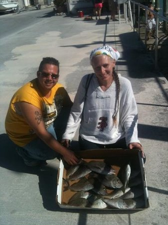 Marathon lady party boat fishing: all the fish we took home for dinner!!!