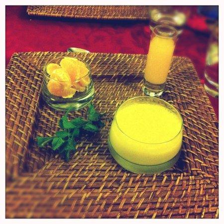 Riad Badi: dessert à l'orange d'Isabelle :)