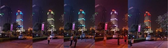 Overseas Chinese Friendship Hotel: Одно из зданий создающее световой пульс города.