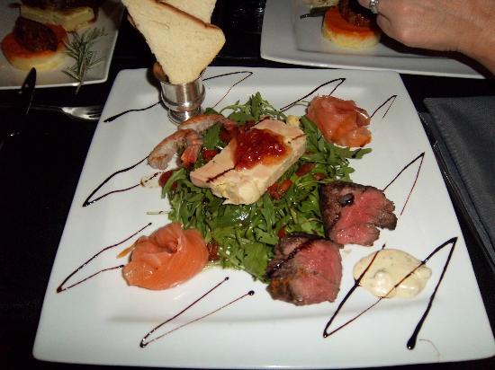 Restaurant Le Studio: superbe salade terre et mer