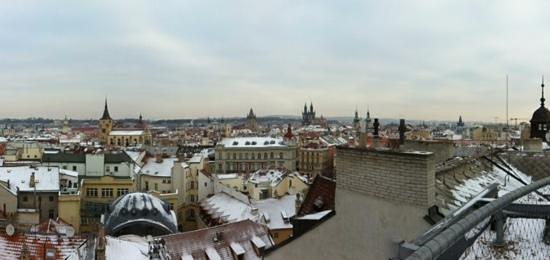 Design Metropol Hotel Prague: вид на крыше