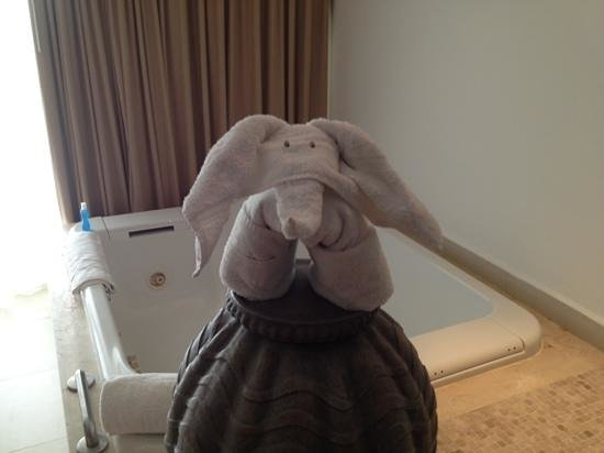 Moon Palace Cancun: Ellie the elephant!!