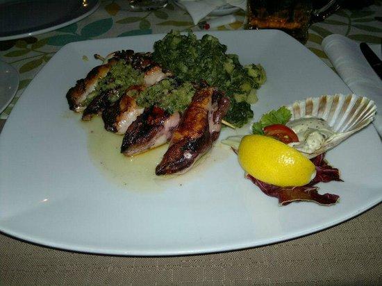 Lantino: Calamari alla griglia ripieni