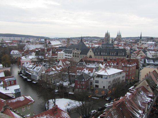 Villa am Park: Überblick vom Turm Ägidienkirche