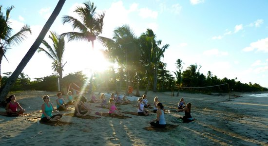 Zoetry Agua Punta Cana: Beach yoga