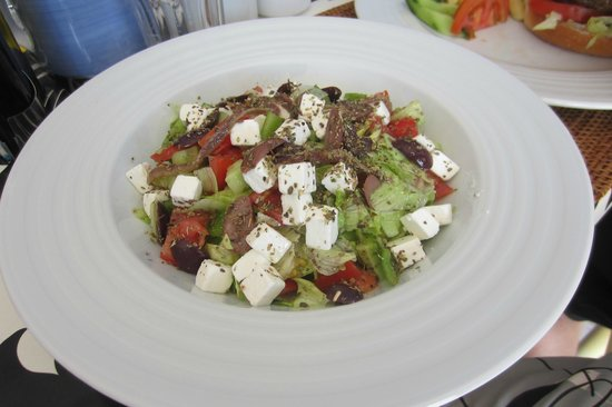 Domina Coral Bay Oasis: greek salad at mosque
