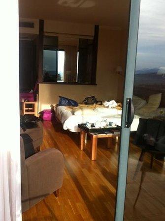 Can Xiquet: chambre vue de la terrasse