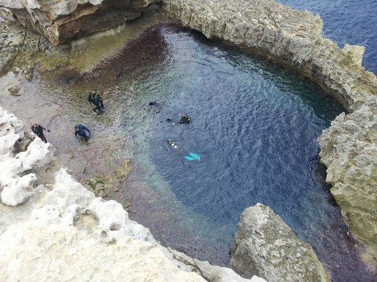 St. Andrew's Divers Cove: Blue Hole at Azure Window, San Lawarenz, Gozo