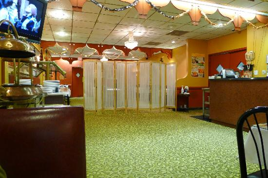 Flavor Of India : Interior offering a view to the banquet facilities