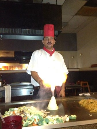 Fuji Japanese Steakhouse: Set it on fire. Holy smokes.