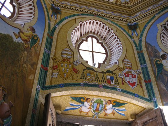 Basilica de Nuestra Senora de Ocotlan: Over the doorway in the chapel of the well