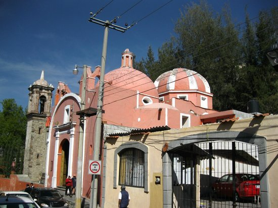 Basílica de Nuestra Señora de Ocotlán: If you're coming from town, turn right at the pink church