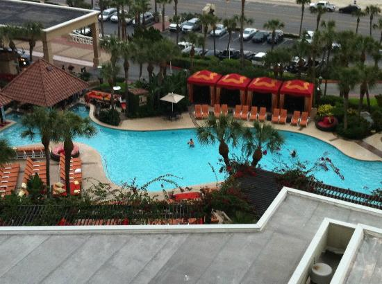 The San Luis Resort: Pool view from the 10th floor