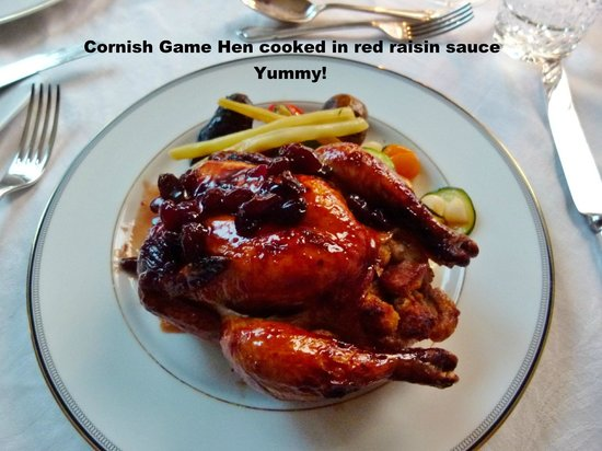 English Country Garden B&B: The Cornish Hen is to die for.