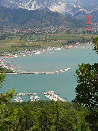 Villa I Poggioli: Vista aerea di Bocca di Magra