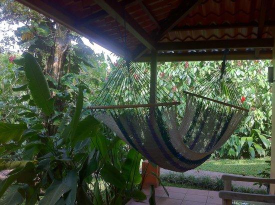 Tacacori EcoLodge: Le hamac en terrasse..très agréable ! 