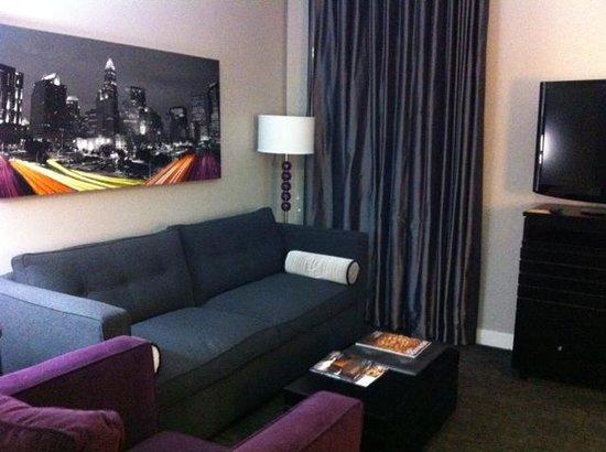 Hyatt House Charlotte Center City Sitting Area In Studio King
