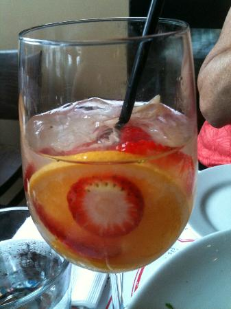 Sangria at Simmzy's - fruit and white wine