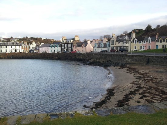 The Portpatrick Hotel: Part of Portpatrick harbour and village