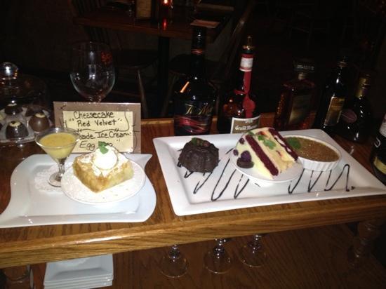 JJ's at the Copper Pot : dessert choices