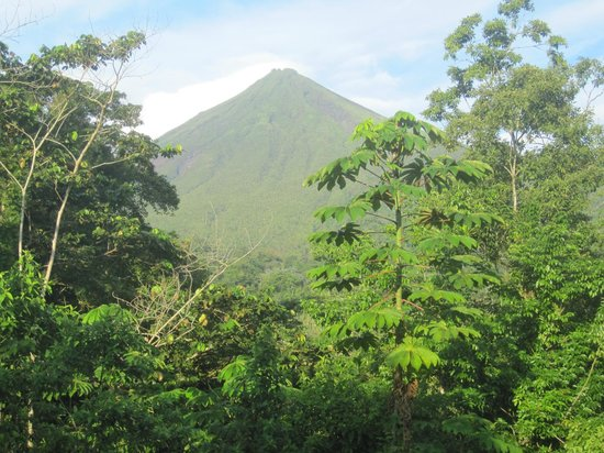 Hotel Lomas del Volcan: This is the view from our room when the clouds clear.