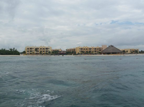 The Royal Haciendas All Suites Resort & Spa: View From the Dive Boat (zoomed in)