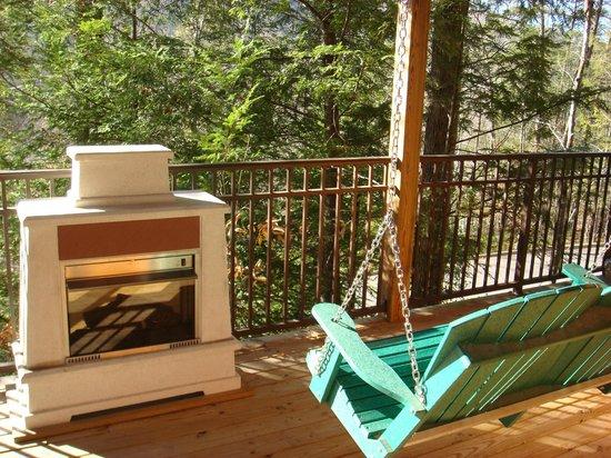 Elk Springs Resort: Beautiful Upstairs Deck Views
