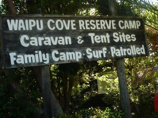 Camp Waipu Cove: nice signage