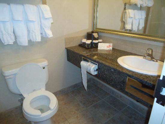 Ramada Westlock: Nice clean bathroom