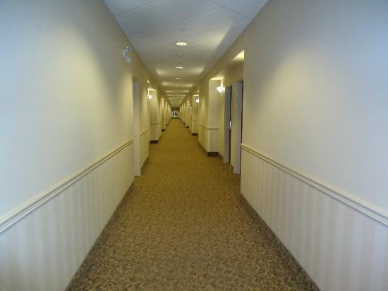 Ramada Westlock: Bright, clean hallways.