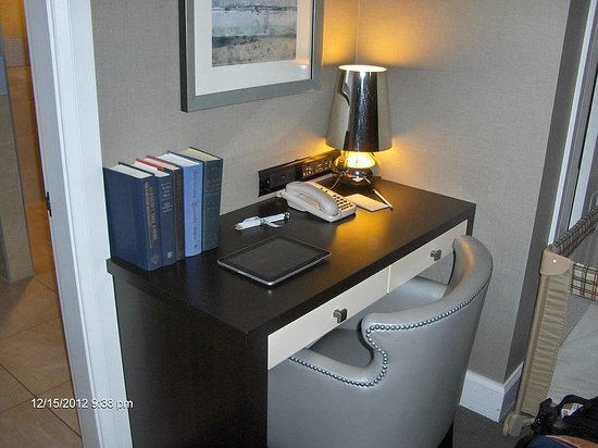 Forty 1⁰ North: The writing desk with the hotel-provided ipad.