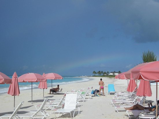 Ocean Club Resort: Rainbow off Leeward end of beach