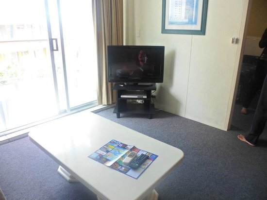 Kupari Boutique Apartments: Modern tv with DVD player