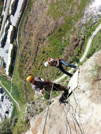 Climbing Queenstown: Abseiling back down