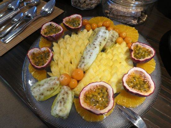 Villa Mulligan: Obstteller zum Frühstück