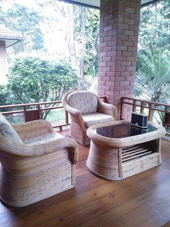 Tao Garden Health Spa & Resort: Balcony of Town House unit