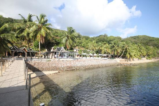 Coco De Mer Hotel And Black Parrot: View from the pier