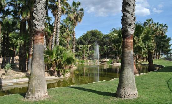 Aparthotel Wellness: Parque enfrente hotel