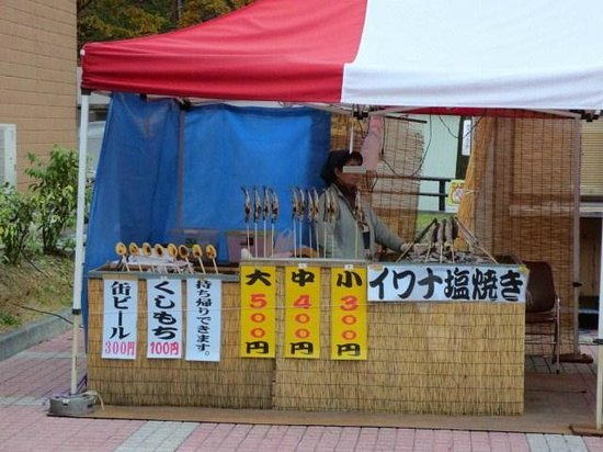 Road Station Shizukuishi Anekko : イワナの塩焼