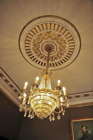 "Quamby Estate: Beautiful lighting in the ""Brown"" Room"