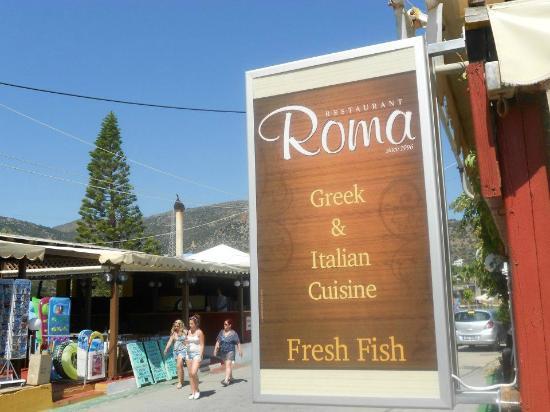 Roma Restaurant Stalis