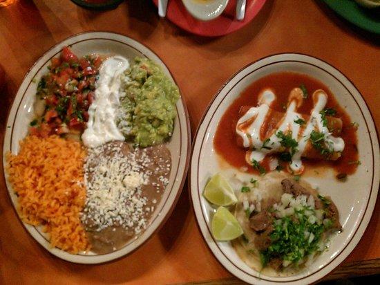 La Nortena Taqueria Mexican Grill: combo plate taco and enchilada