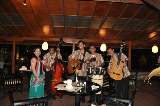 Ayodya Resort Bali: With the Band at Waterfront Restaurant