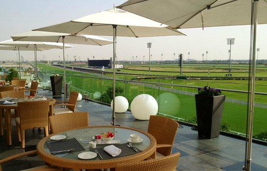 The Meydan Hotel: The view from the terrace.